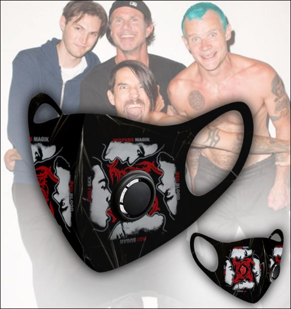 Red Hot Chili Peppers filter activated carbon face mask 1
