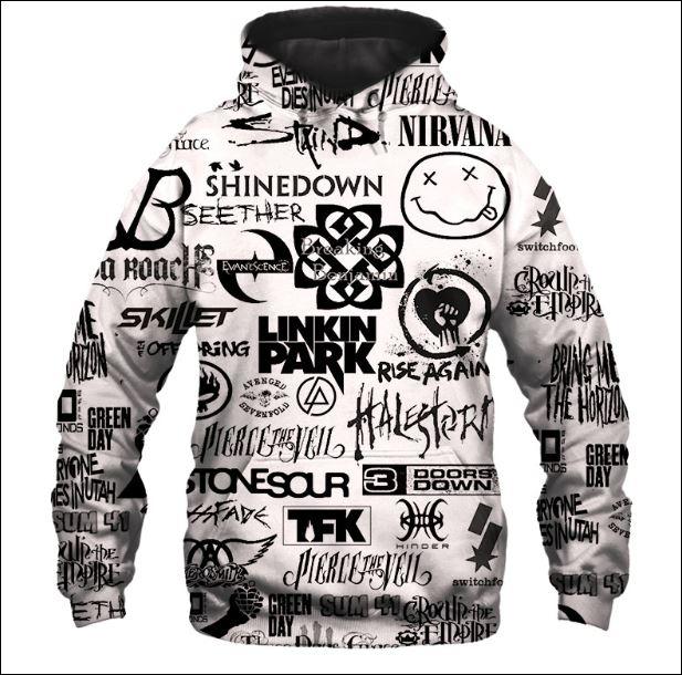 Rock bands 3D hoodie
