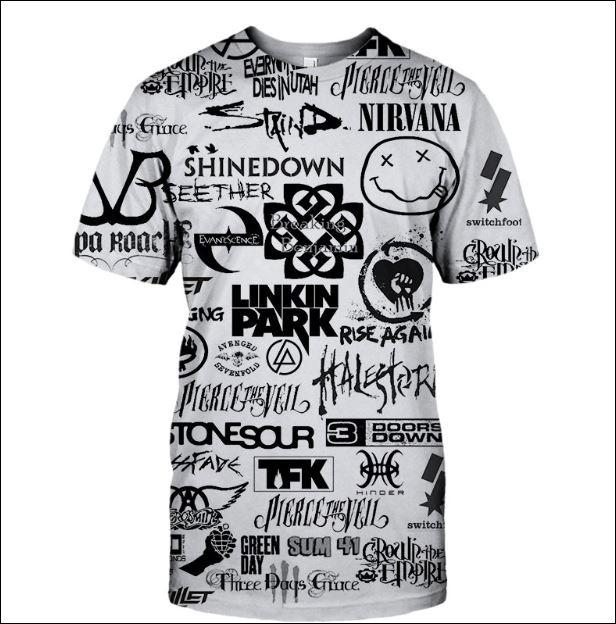 Rock bands 3D shirt