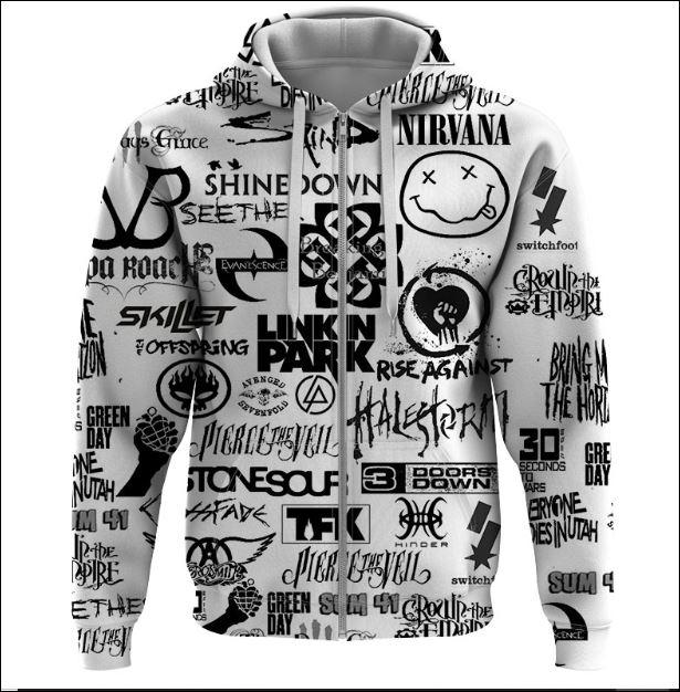 Rock bands 3D zip hoodie