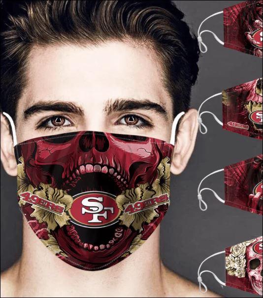 San Francisco 49ers skull face mask
