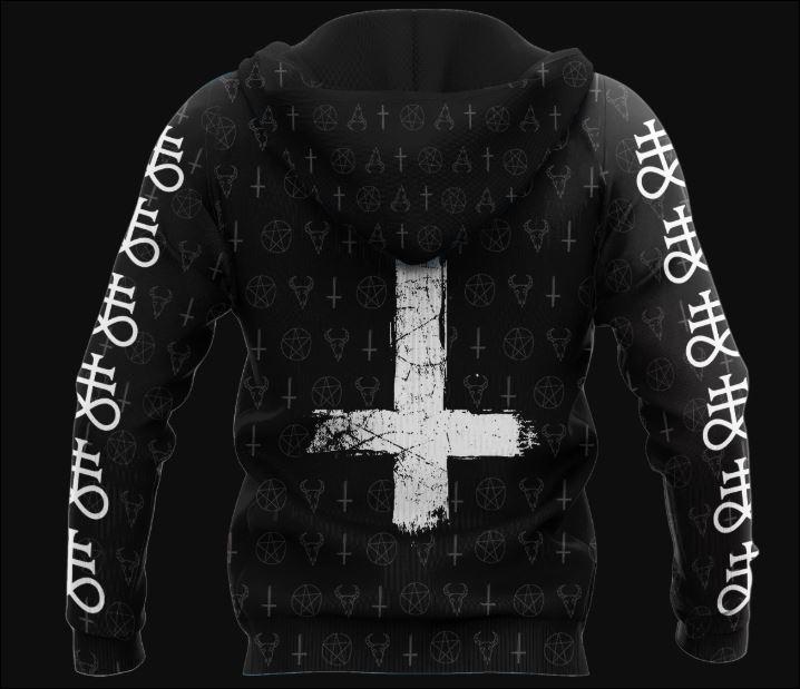Satanic Tribal 3D hoodie back