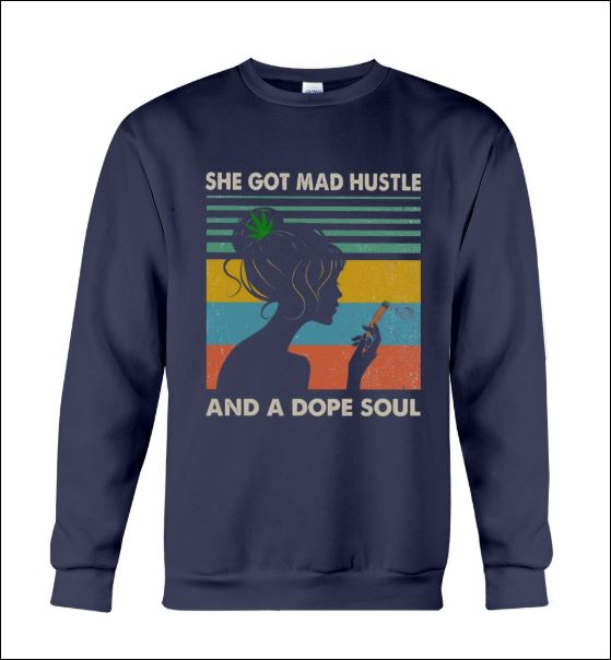She got mad hustle and a dope soul vintage sweater