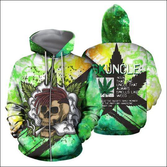 Skuncle the one uncle that always smells like weed 3D zip hoodie