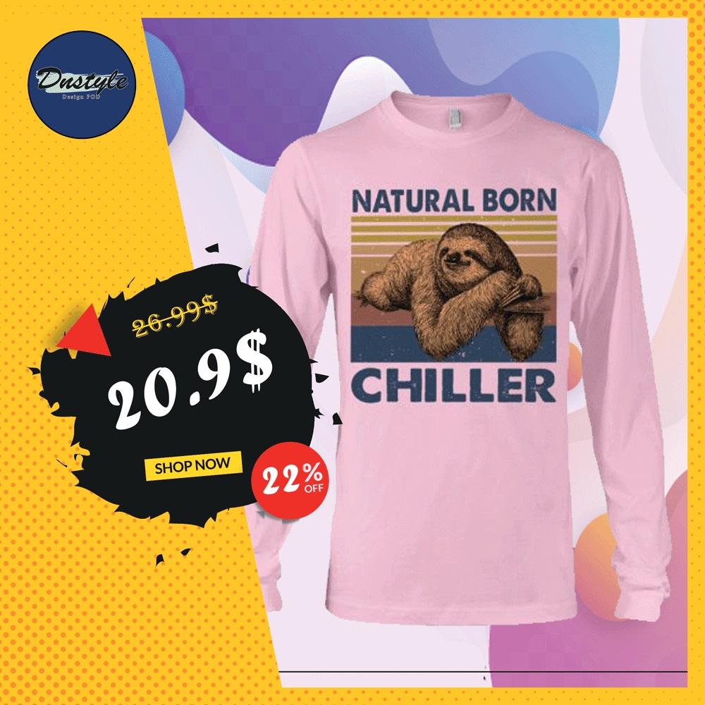 Sloth natural born chiller vintage long sleeved