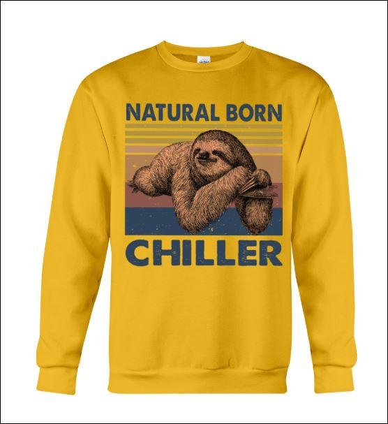 Sloth natural born chiller vintage sweater