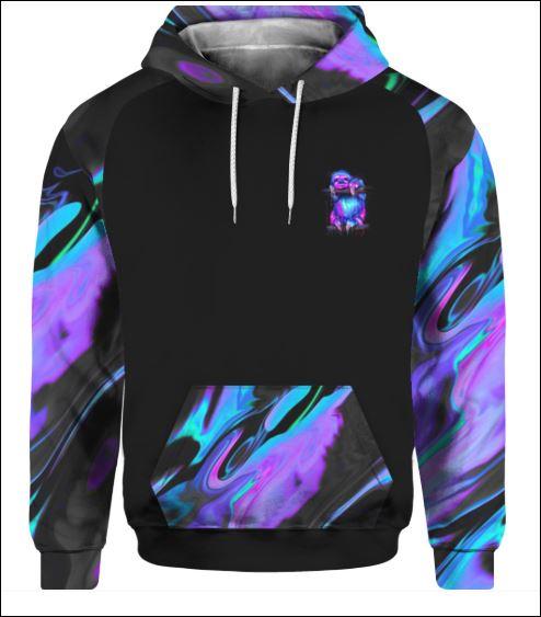 Sloth violet 3D hoodie