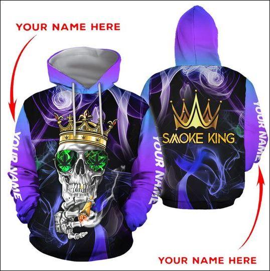 Smoke King skull 3D hoodie