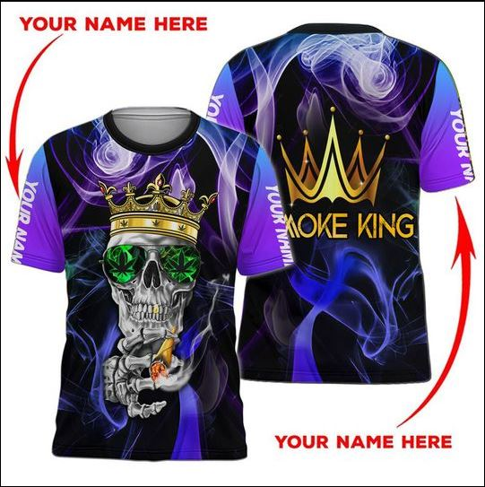 Smoke King skull 3D shirt