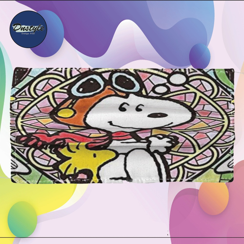 Snoopy and Woodstock cloth face mask