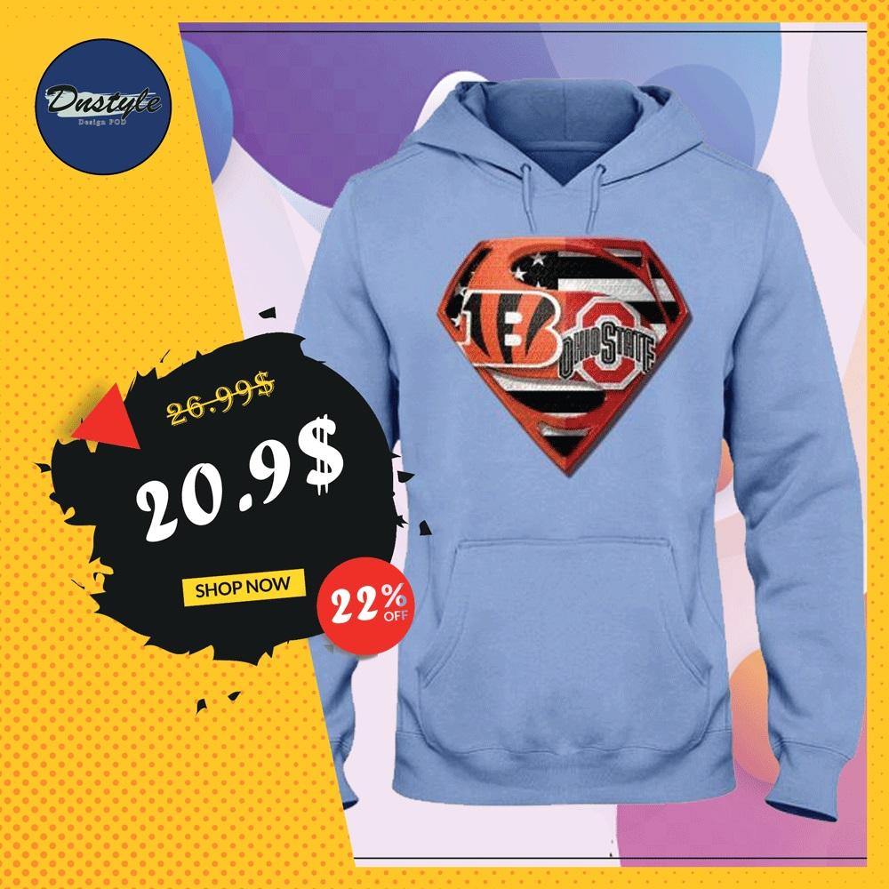Superman Cincinnati Bengals and Buckeyes hoodie