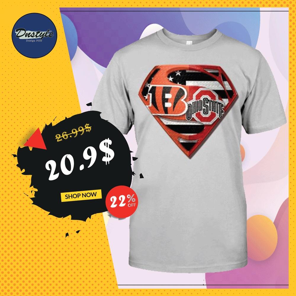 Superman Cincinnati Bengals and Buckeyes shirt