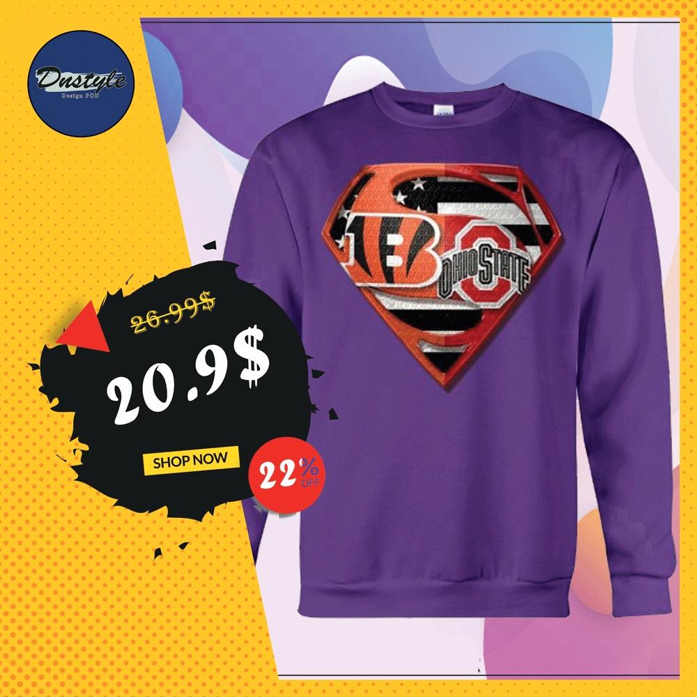 Superman Cincinnati Bengals and Buckeyes sweater