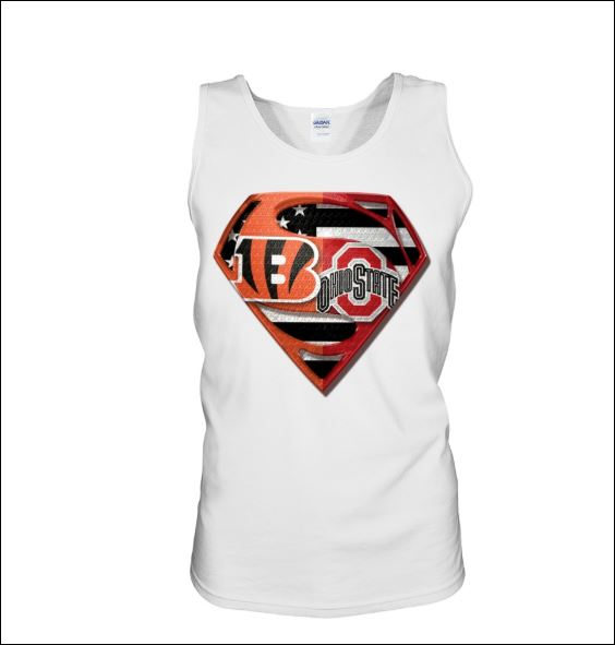 Superman Cincinnati Bengals and Buckeyes tank top