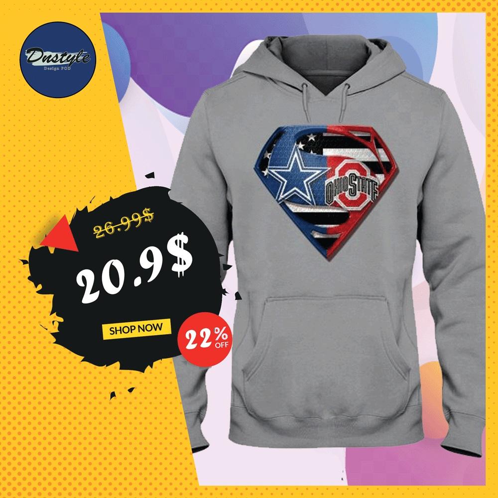 Superman Cowboys and Buckeyes hoodie