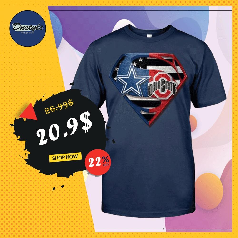 Superman Cowboys and Buckeyes shirt
