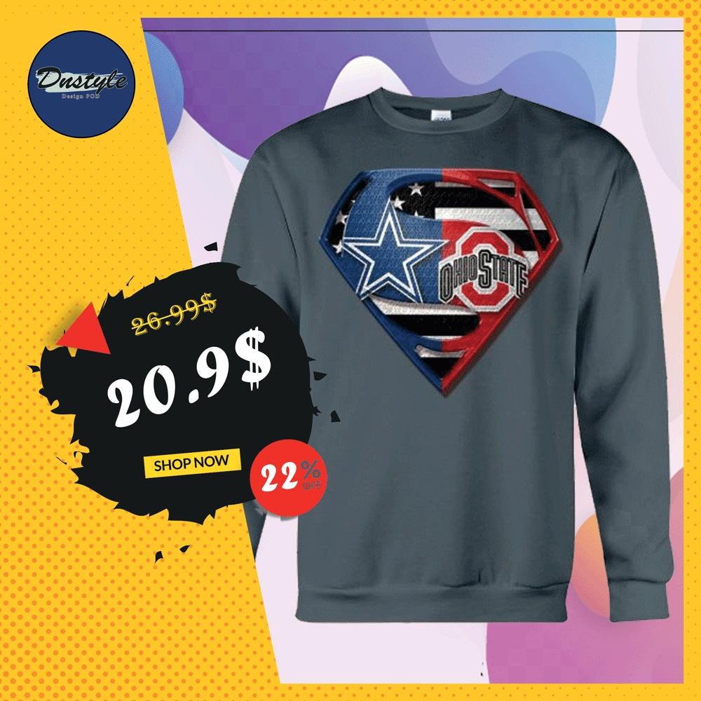 Superman Cowboys and Buckeyes sweater