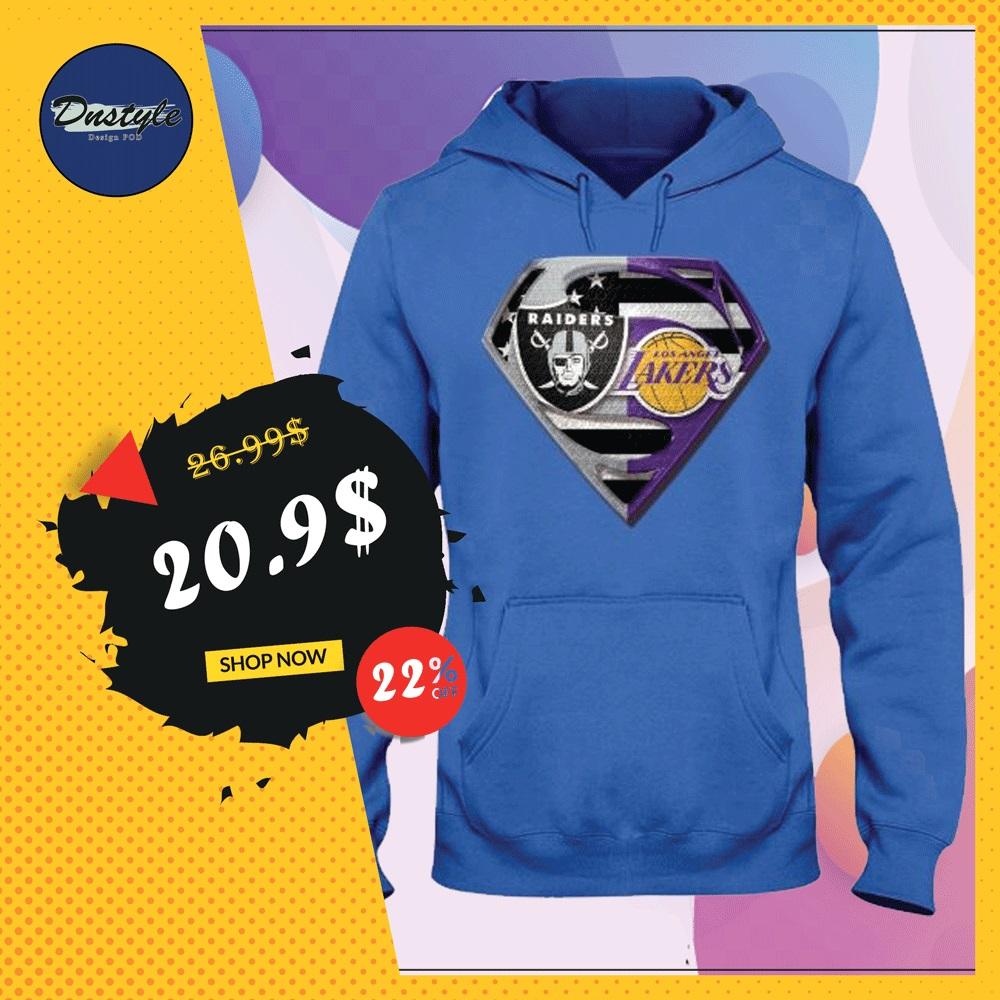 Superman Raiders and Lakers hoodie