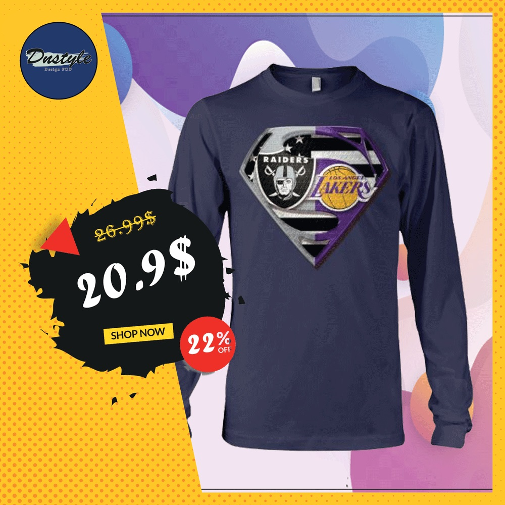 Superman Raiders and Lakers long sleeved