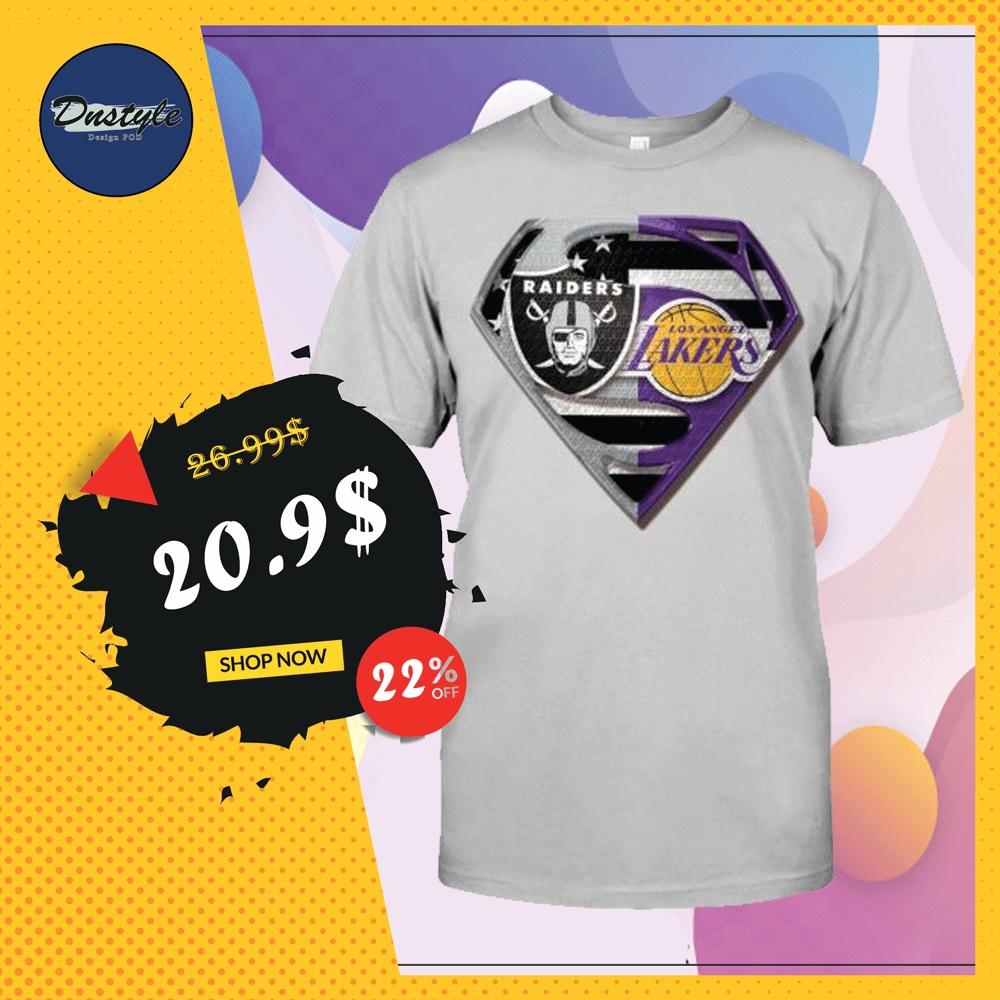 Superman Raiders and Lakers shirt