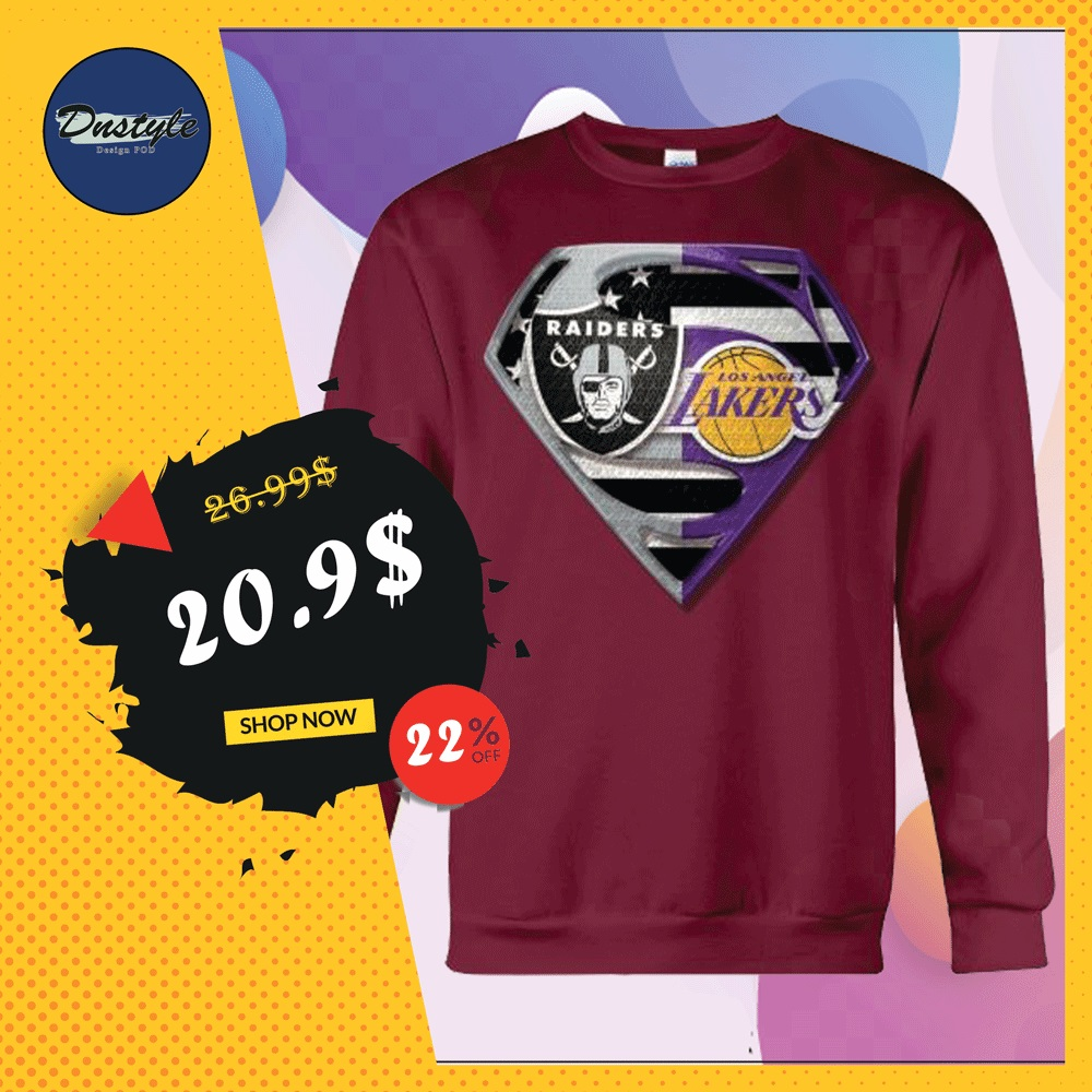 Superman Raiders and Lakers sweater
