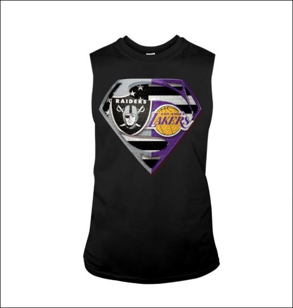 Superman Raiders and Lakers tank top