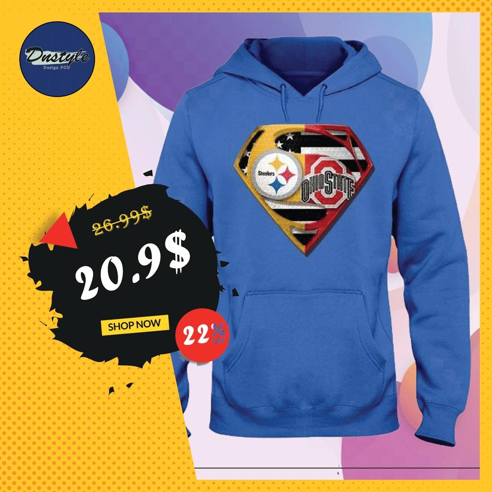Superman Steeler and Buckeyes hoodie