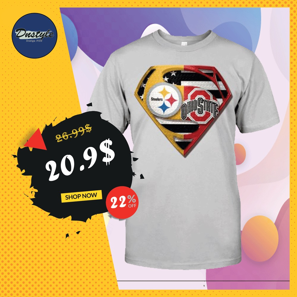 Superman Steeler and Buckeyes shirt