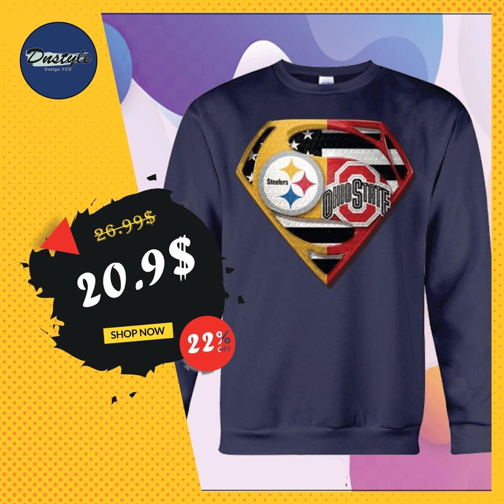 Superman Steeler and Buckeyes sweater
