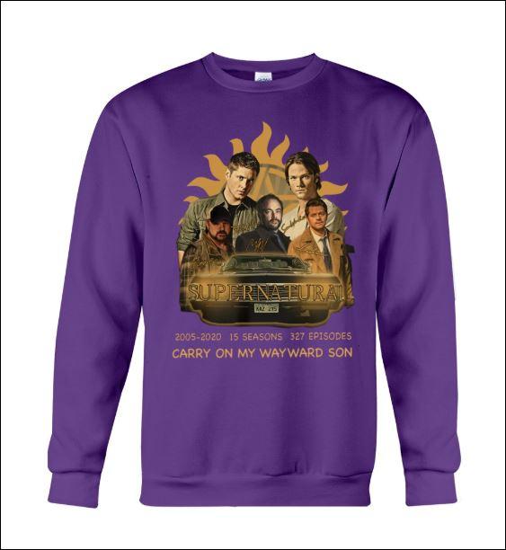 Supernatural carry on my wayward son sweater