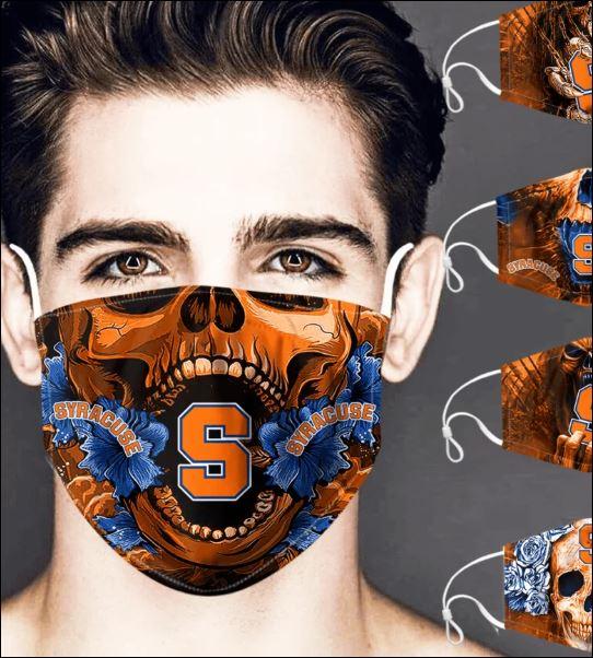 Syracuse Orange skull face mask