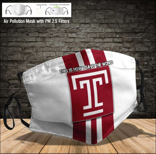 Temple Owls face mask