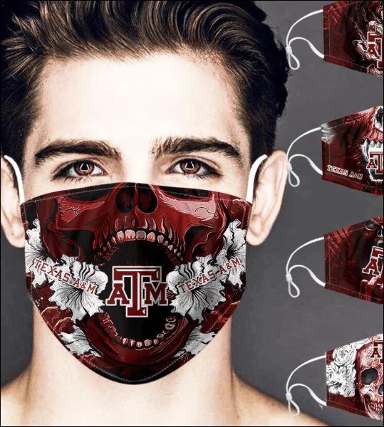 Texas A&M Aggies skull face mask