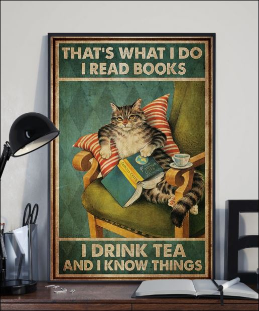 That's what i do i read books i drink tea and i know things poster 2