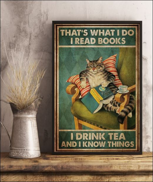 That's what i do i read books i drink tea and i know things poster 3