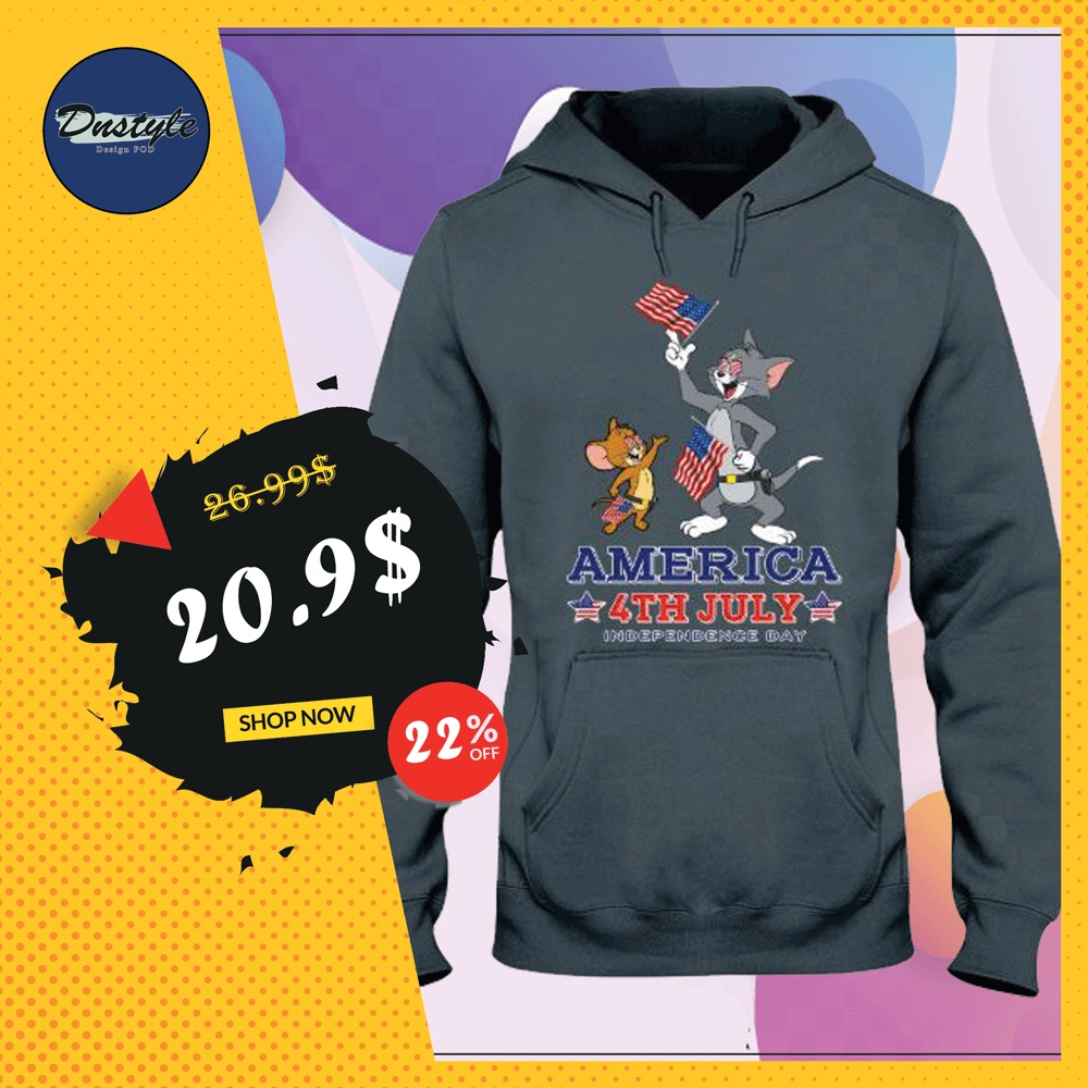 Tom and Jerry America 4th July hoodie