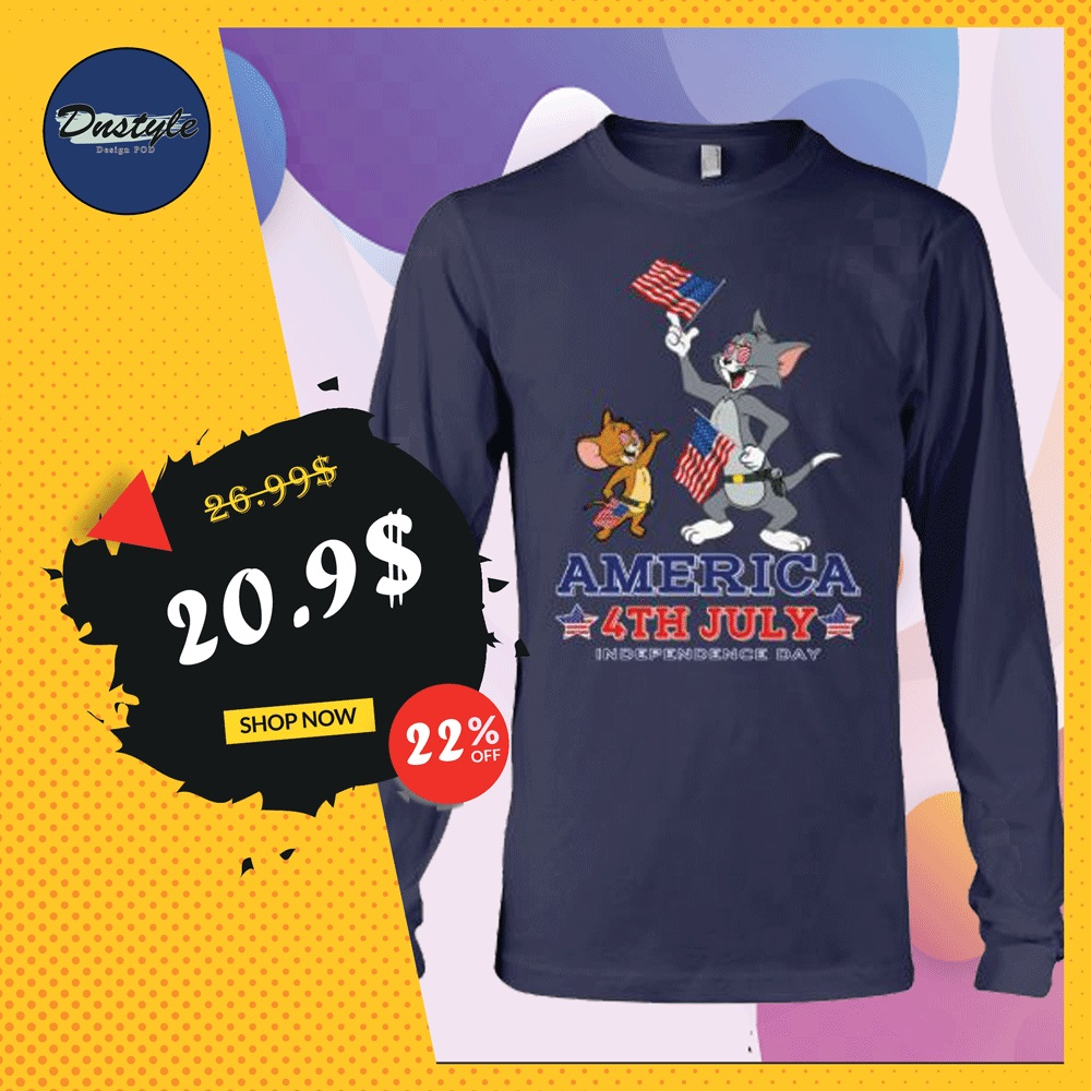 Tom and Jerry America 4th July long sleeved