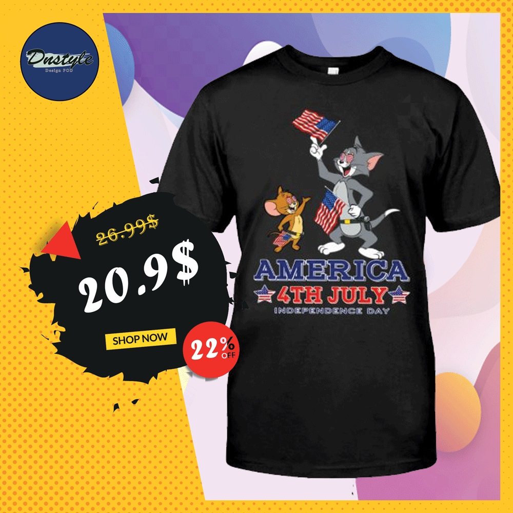 Tom and Jerry America 4th July shirt