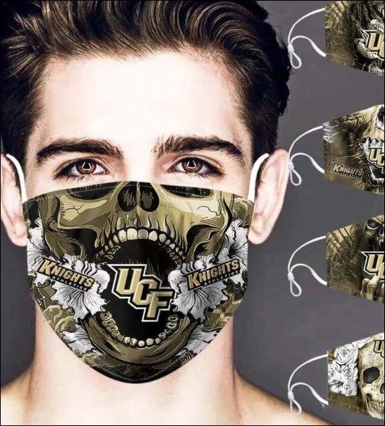 UCF Knights skull face mask