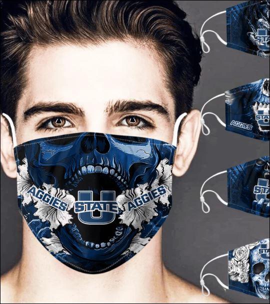 Utah State Aggies skull face mask