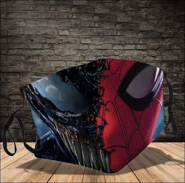 Venom and Spider man face mask