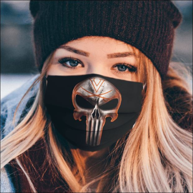 Virginia Cavaliers The Punisher face mask