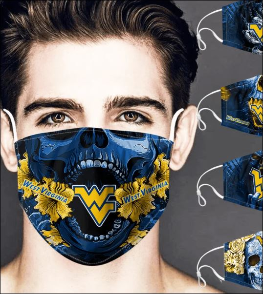 West Virginia Mountaineers skull face mask