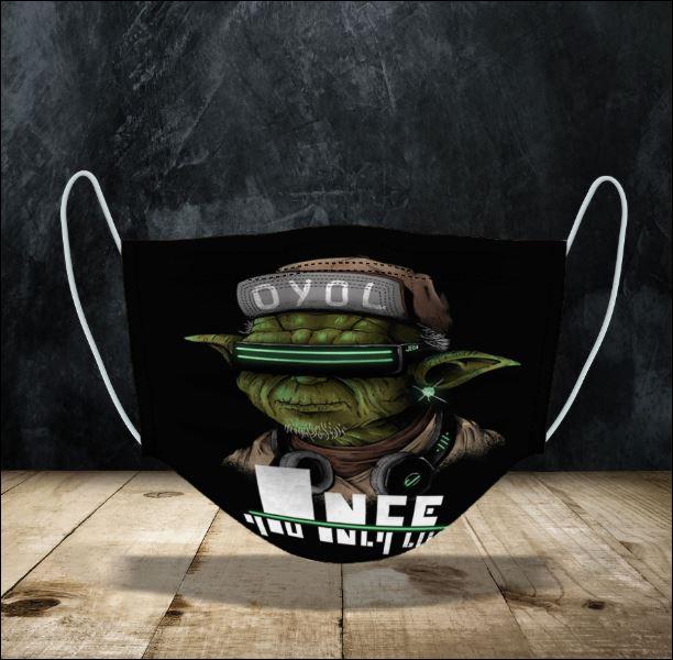 Yoda yolo face mask