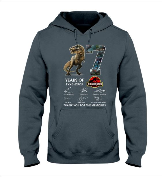 7 years of Jurassic Park hoodie