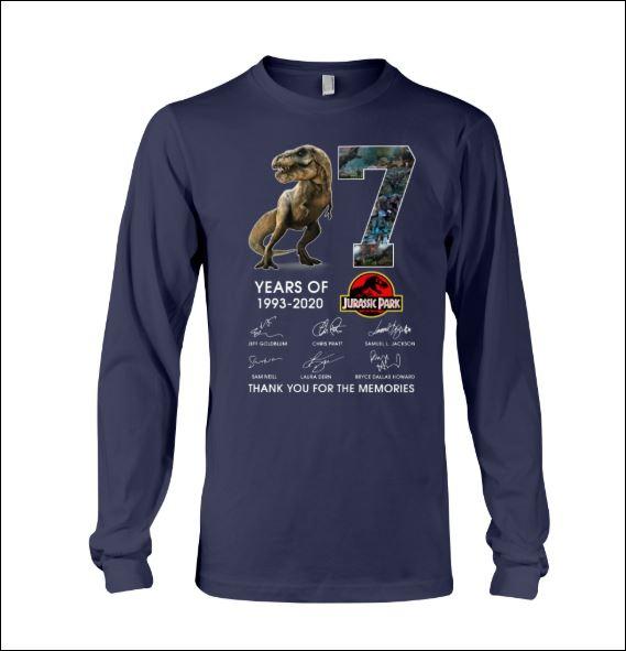 7 years of Jurassic Park long sleeved