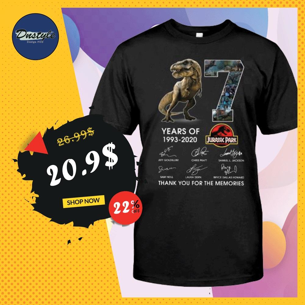 7 years of Jurassic Park shirt