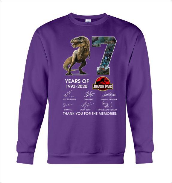 7 years of Jurassic Park sweater