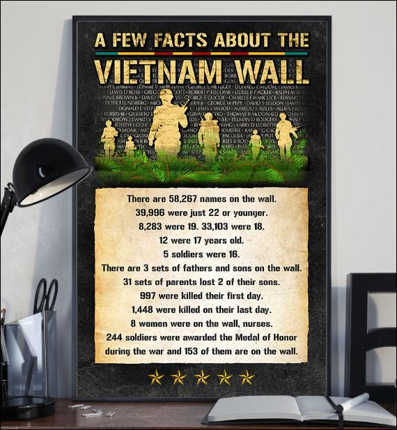 A few facts about the Vietnam Wall poster 1