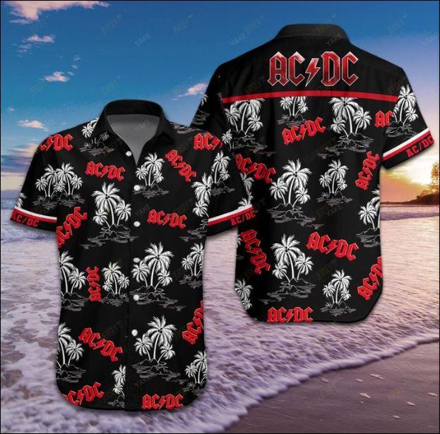 AC DC hawaiian shirt